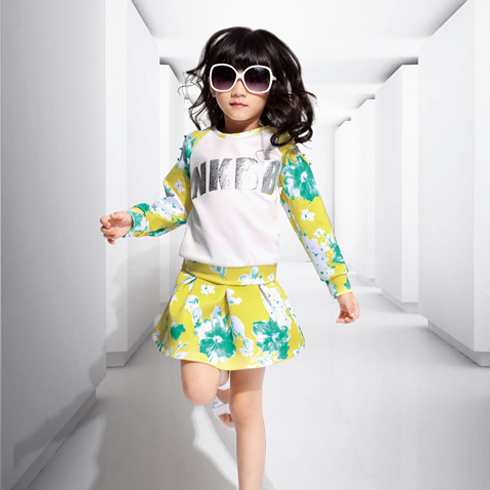 巴布兔-春节新款潮童时尚碎花套装