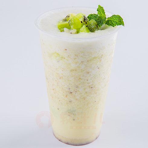 较汁儿鲜榨果汁-猕猴桃奶茶