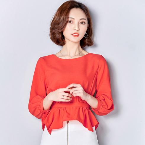 千姿惠女装-红色款上衣