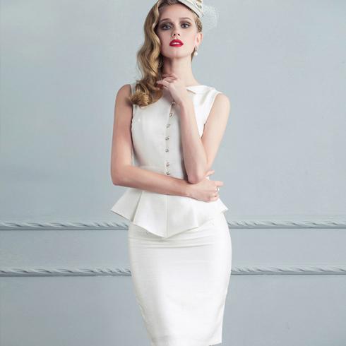 千姿惠女装-白色优雅装