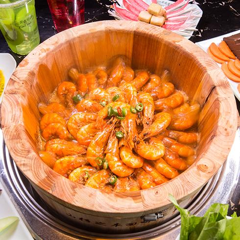 美食密码木桶滋滋锅-木桶大虾