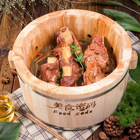 美食密码木桶滋滋锅-木桶排骨