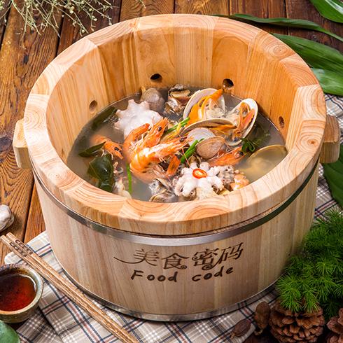 美食密码木桶滋滋锅-木桶海鲜