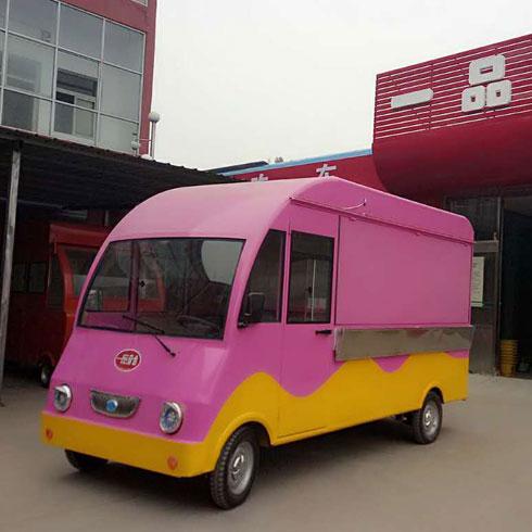 一品奇香小吃车-粉红小吃车