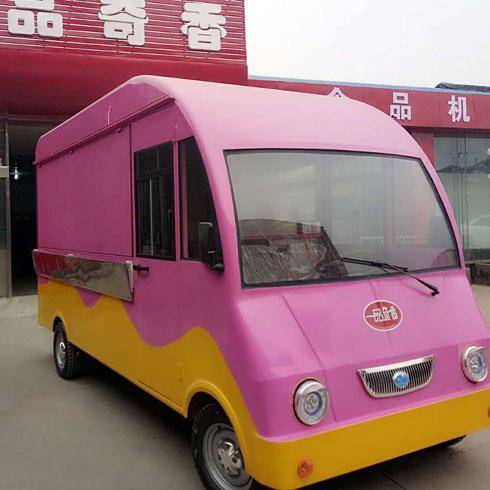 一品奇香小吃车-自动四轮小吃车