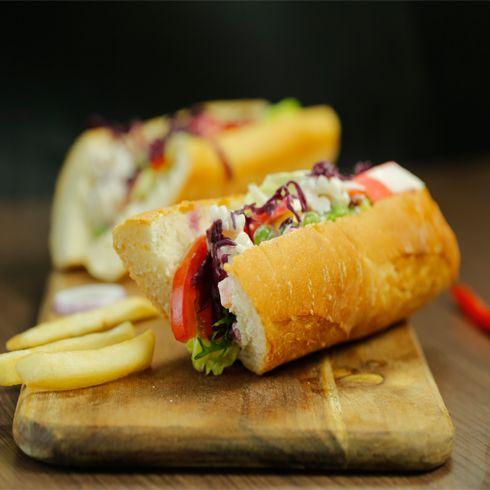 汉堡新语西式快餐-海鲜蟹肉三文治
