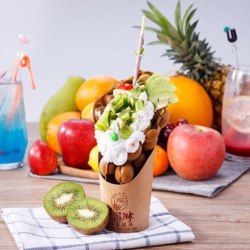 美滋淋冰淇淋-猕猴桃蛋仔冰淇淋