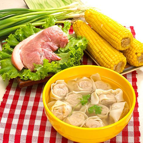吉祥馄饨面-玉米猪肉馄钝