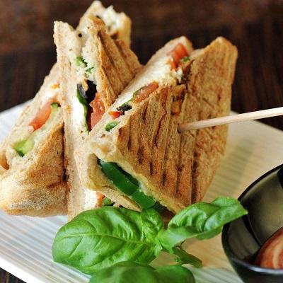 虾Dou先生蔬菜三明治