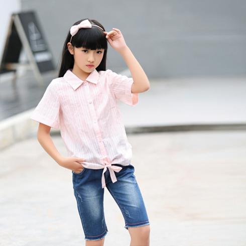 贝蕾尔-娃娃领短袖上衣