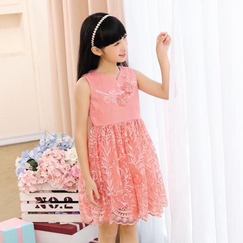 贝蕾尔-无袖纯色压褶连衣裙
