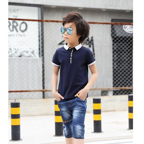 贝蕾尔-夏季男童短袖Polo衫