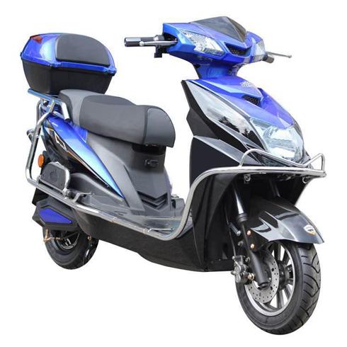 长林电动车-加长尚领电动车蓝色款