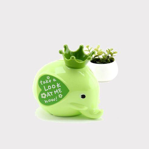众客优品-绿色小象摆件