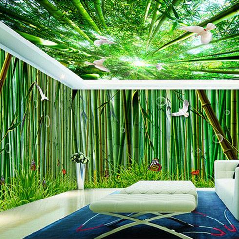 美滴集成墙面-翠绿空间