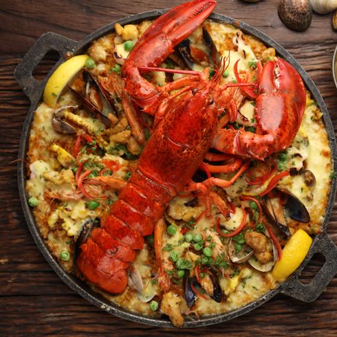 硬货海鲜饭-醇香芝士龙虾海鲜饭(双人份)