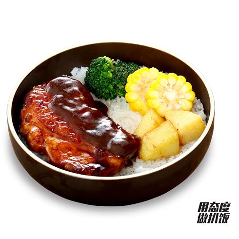 十二稻扒饭系列-黑椒鸡扒饭