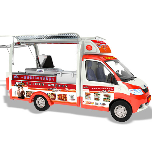 一路飘香小吃车-汽车型餐车
