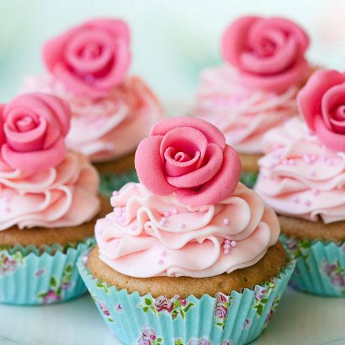 巴比酷肉蟹煲-玫瑰花纸杯蛋糕