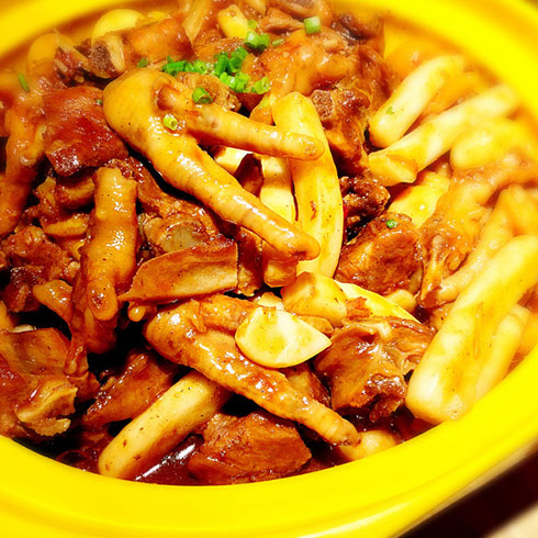巴比酷肉蟹煲-凤爪煲