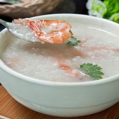 粒粒香煲仔饭-香菜虾粥