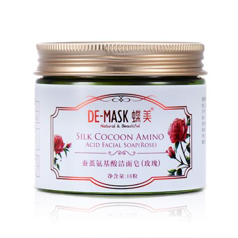 蝶美护肤品-蚕茧氨基酸洁面皂(玫瑰)