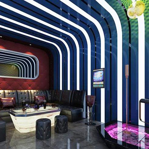 爱典智能生态集成板-酒吧装饰效果