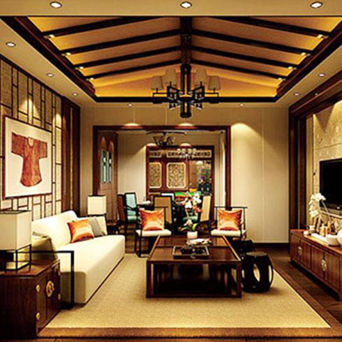 爱典智能生态集成板-古典客厅效果