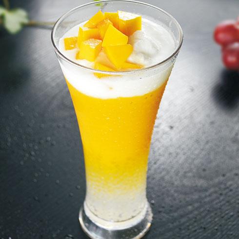 鲜果蜜语奶茶饮品-芒果盖奶