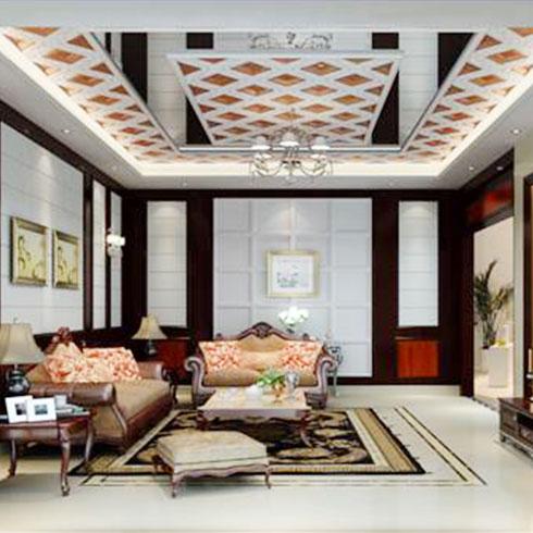 皇家洛克纳米集成墙饰-美式风格装饰效果