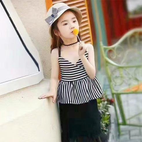 普朵米琪童装-条纹套装裙