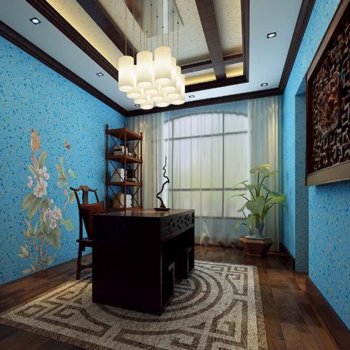科温士水性彩色颗粒漆-古典风格装修效果图