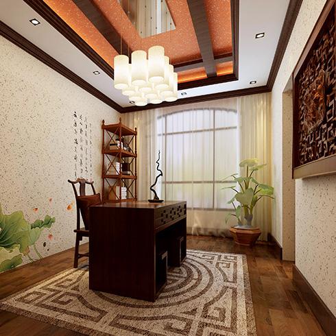 科温士水性彩色颗粒漆-古典墙体装修效果图