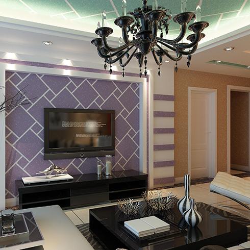 科温士水性彩色颗粒漆-优雅风格墙面装修效果图