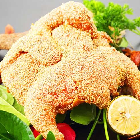 鸡鸭随你小吃-芝麻香酥鸡
