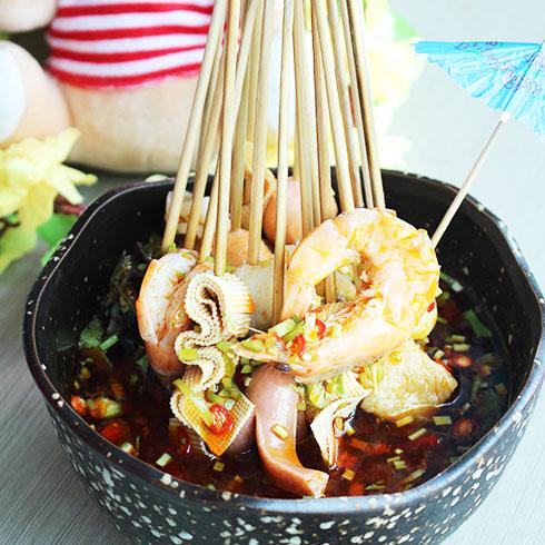 鲜馋后饱啵啵鱼快餐-海鲜串串