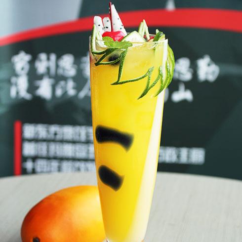 鲜馋后饱啵啵鱼快餐-冰镇芒果汁