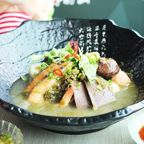 鲜馋后饱啵啵鱼快餐-香浓虾米菌菇