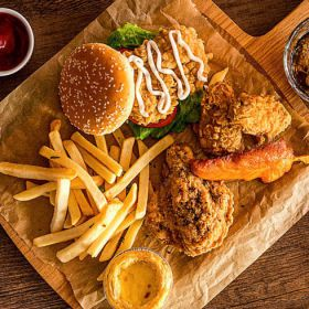 皇炸炸鸡汉堡-超值大套餐