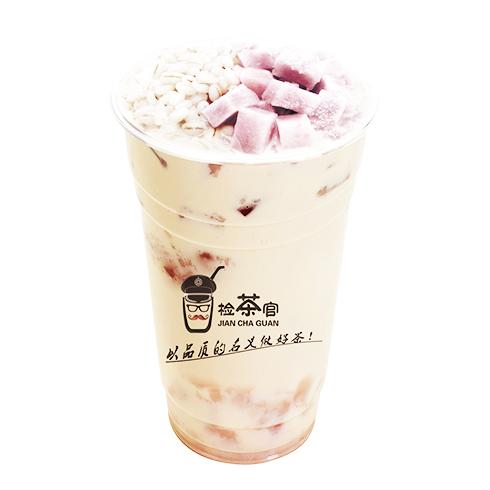 检茶官茶饮-烧仙草奶茶