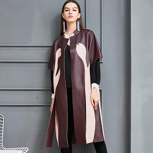 艾丽哲女装-秋冬枫叶时尚皮衣