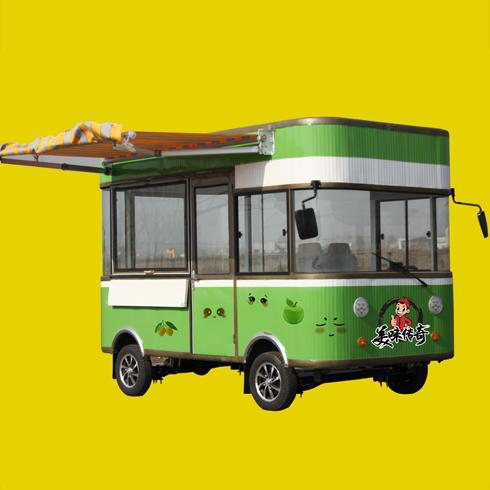 美味传奇小吃车-三轮餐车
