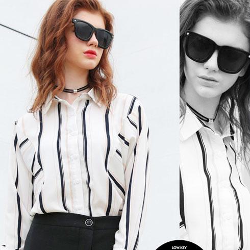 欧米媞女装-条纹衬衫