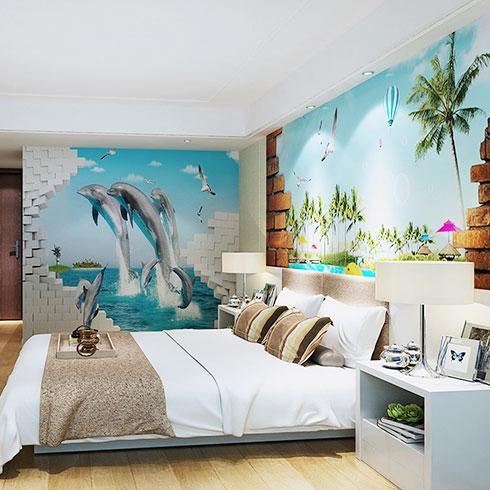 亚美舒集成墙饰-海景风格装修效果图