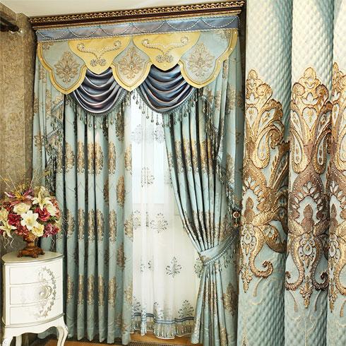 皇庭窗帘布艺-华丽浪漫风格