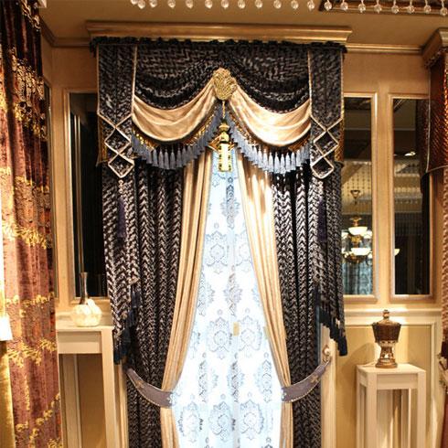 皇庭窗帘布艺-古典风格