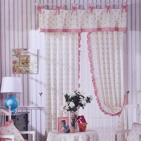 皇庭窗帘布艺-粉色甜美风格