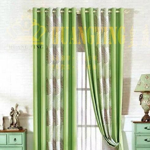 皇庭窗帘布艺-简约清新绿色风格
