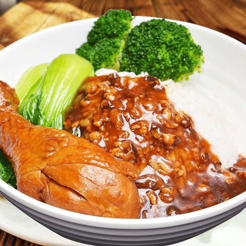 巧仙婆砂锅焖鱼饭快餐-酱香鸡腿饭