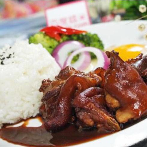 巧仙婆砂锅焖鱼饭快餐-酱香猪蹄饭